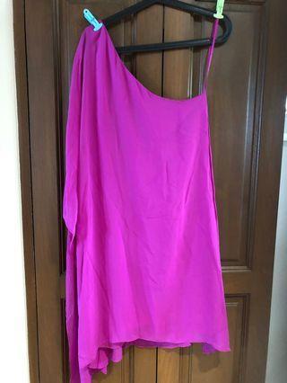 🚚 BCBG Fuchsia toga dress