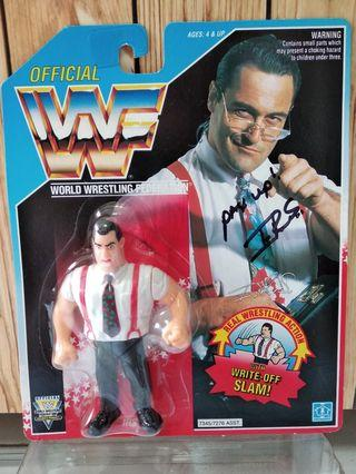 Hasbro WWF figures - Signed Autographed IRS