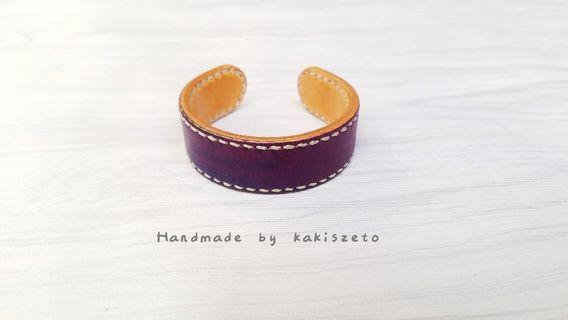 雙色設計皮革手環