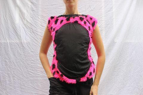 Fluro pink handmade ladybug shirt