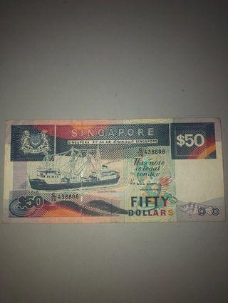 Old Singapore Currency (Ship Series)