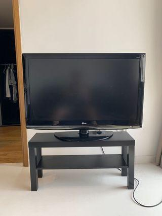 """LG 42"""" HD TV + Ikea Television Stand"""