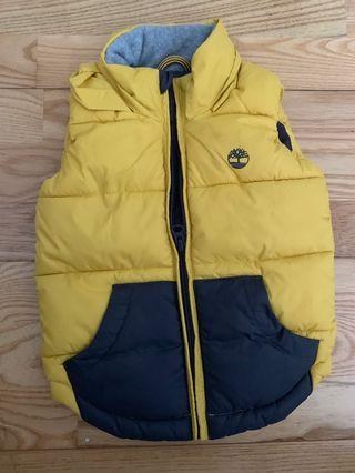 Timberland yellow winter vest 12-24 months