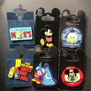 Original Disney and universal pins
