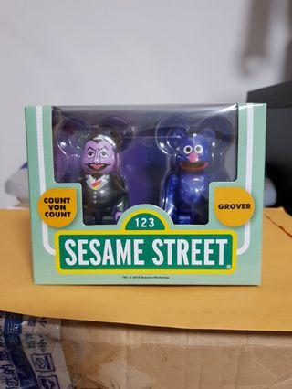 Bearbrick Sesame Street Count Von Count Grover set 100%
