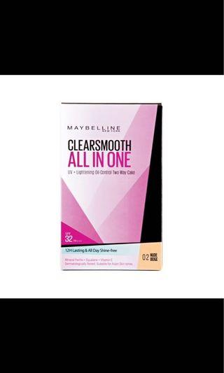 🚚 Maybelline Clear Smooth All in One 02