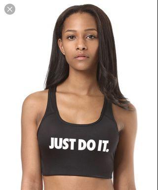 BNWT Nike Pro Black sports bra (Classic Swoosh)