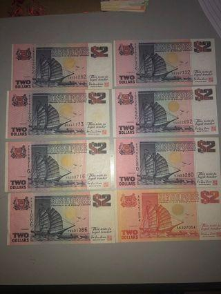 🚚 Old Singapore Currency (Ship Series)