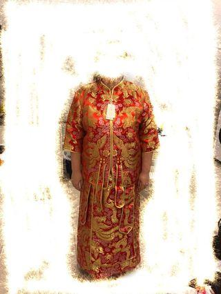 Chinese Traditional Kua Wedding Gown (Plus Size)