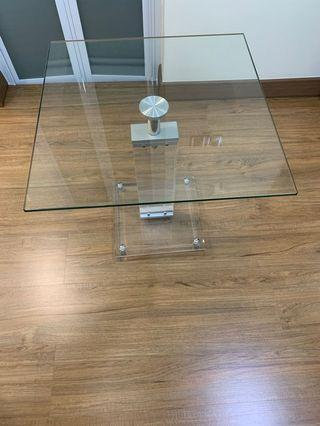 Glass side table or coffee table