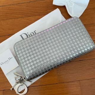 17cee91770a Christian Dior Lady Dior Voyageur Zip Around Wallet