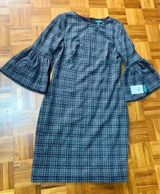 🚚 Plaid-Jacquard Knit Dress
