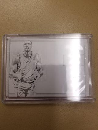 Panini National Treasures plate 1 of 1 Karl Malone