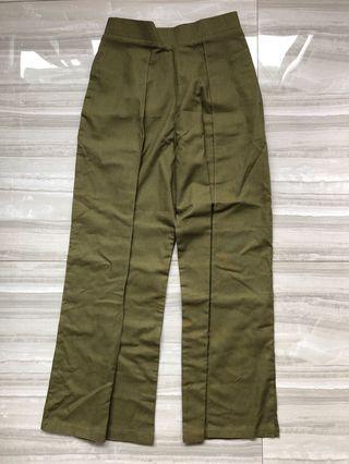 Ladies green pants