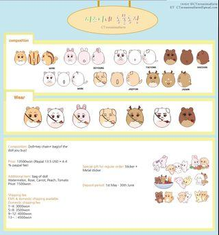 [SG GO] NCT Animal Farm 10cm Dolls Normal Order by @CTzenanimalfarm 🏠💚