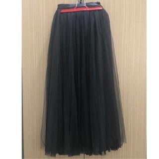 🚚 BASIC -皮質彈性腰頭多層次紗裙(附襯裙)