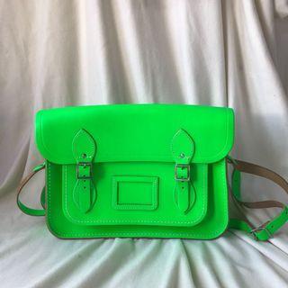 Cambridge Satchel Bag Neon Green