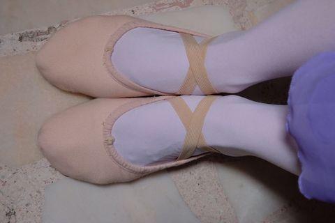 Ballet Shoes: Bloch Split-Sole Canvas Shoes with Cross-Elastics (Women Size 3)