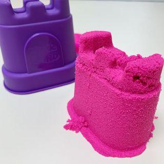 Neon Pink Kinetic Sand - Single Castle Container 5oz 141g 動力沙