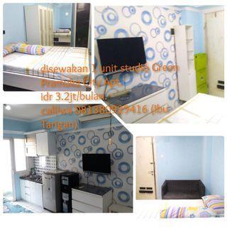 Full Furnished Green Pramuka Studio Apartment for rent