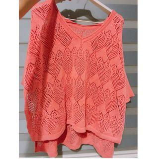 (二手)杏桃色針織罩衫