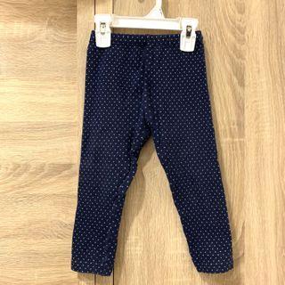 🚚 Uniqlo Baby 深藍色白點點休閒長褲