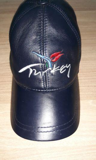 Leather black Turkey cap