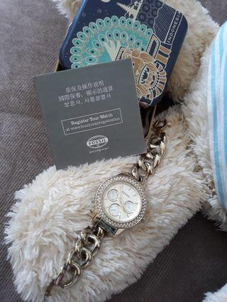 Fossil chain watch