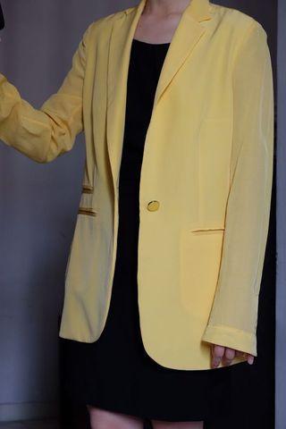 Mango Suit Jacket (Yellow)