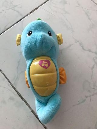 Fisher Price Soothe and Glow Seahorse - Blue