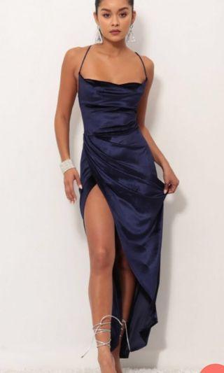 Velvet luxe ball dress royal blue