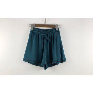 🚚 墨綠色滾邊雪紡短褲裙 鬆緊腰  #半價衣服拍賣會