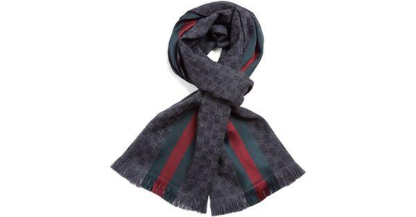 GUCCI silk & wool scarf authentic