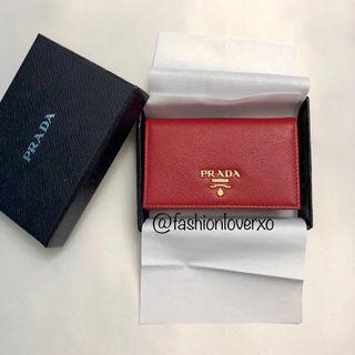 Prada 銀包 卡片套 Wallet / Card Holder (Saffiano牛皮 全新 購自意大利 原價HK$2350)