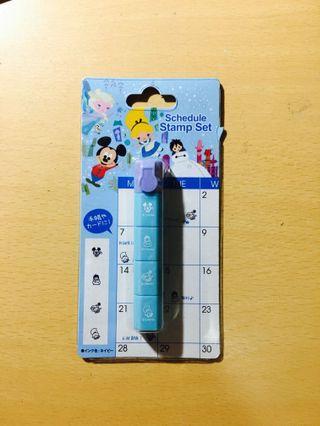 迪士尼手賬印章 Disney stamp set
