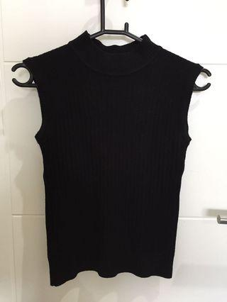 Turtle neck hitam