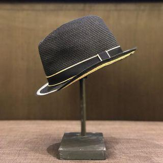 Women's Large Brim Hat w/ Bow Black MM1 One Size