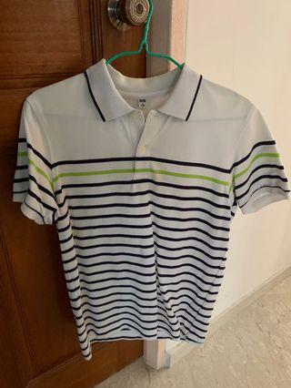 🚚 Uniqlo Striped Polo Tee