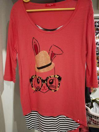 Long T Shirt with 3 quarter sleeve