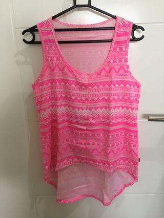 Tank top pink tribal cool girl