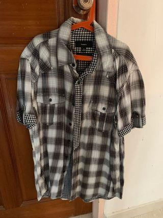 🚚 Bossini Checkered Collared Shirt