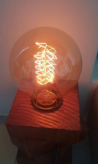 Hand made wood carving light with dimmer