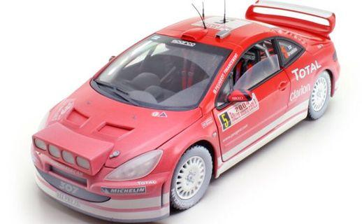 1/18 Solido Peugeot 307 WRC 2004 (dirt edition model)