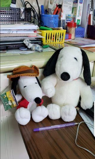全新 Snoopy 史諾比公仔兩隻