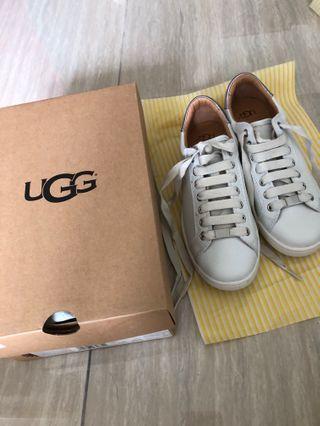 Brand new Women UGG Milo White Leather Trainer US 7 UK5.5 EUR 38 白色鞋