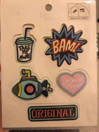 Bershka Iron-on Fabric Patches