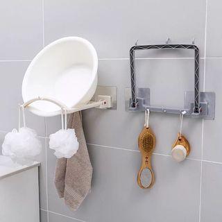 廚房浴室無痕貼放面盆 鍋蓋 面盤架