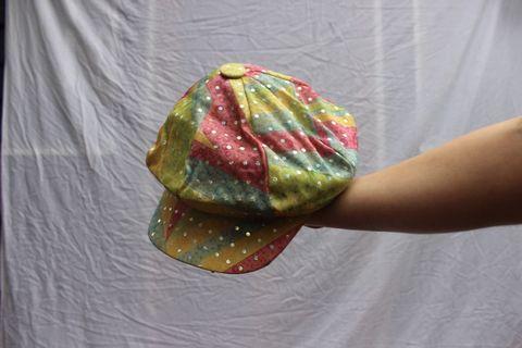 Rainbow sequin paperboy cap