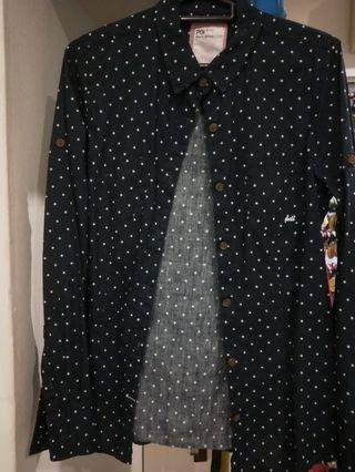 Dark blouse with small stars