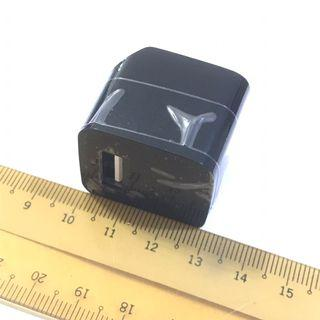 USB Charger 1A small square US socket 充電器